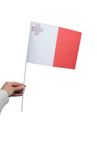 Pappersflagga, Malta 27x20cm