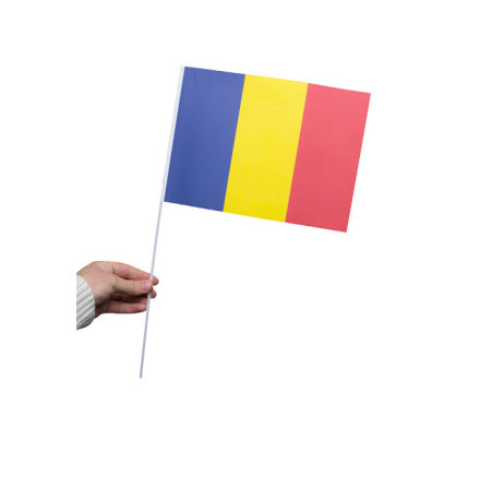 Pappersflagga, Rumänien 27x20cm