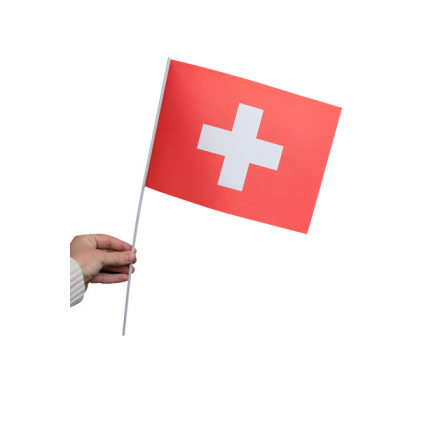 Pappersflagga, Schweiz 27x20cm