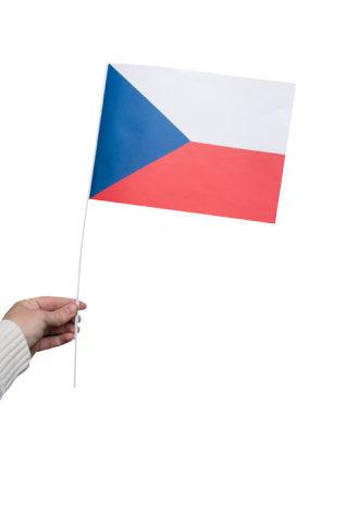 Pappersflagga, Tjeckien 27x20cm