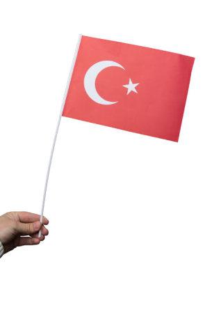 Pappersflagga, Turkiet 27x20cm