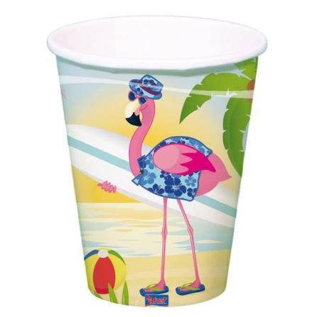 Mugg, flamingo 8st