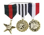 Medalj, millitär 3st