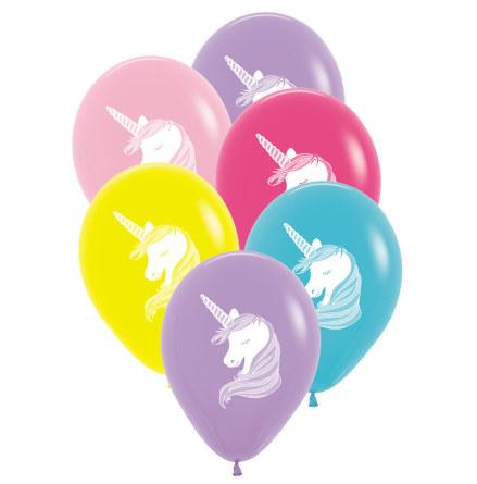 Ballonger, enhörning 6st