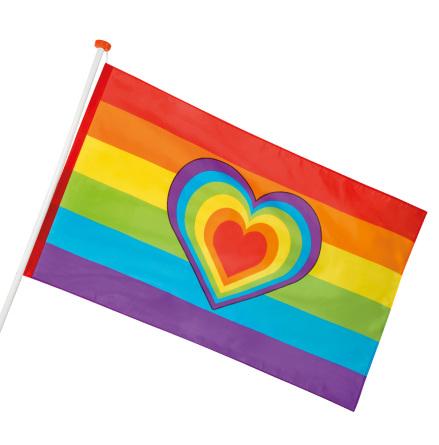 Flagga, regnbåge 90x150 cm