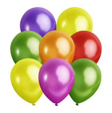 Ballonger, metallic sorterade 10 st