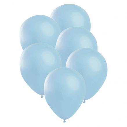 Satin ballonger, blå 6 st