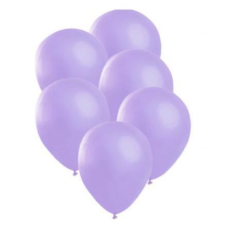 Ballonger, satin lila 6 st