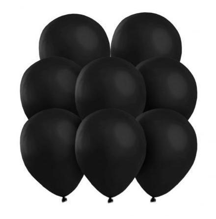 Ballonger, svarta 25 st
