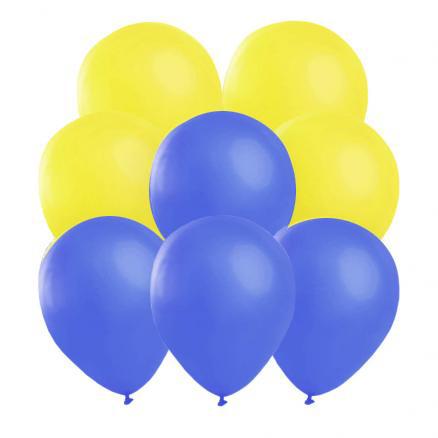 Ballonger, blå/gula 10 st