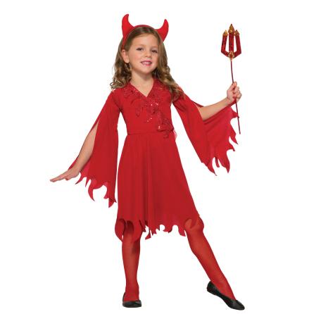 Djävulsklänning barn, L