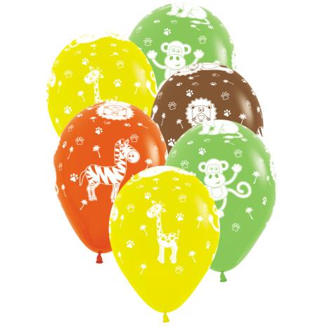 Ballonger Djungelns Djur 6 st