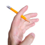 Pennan genom fingret
