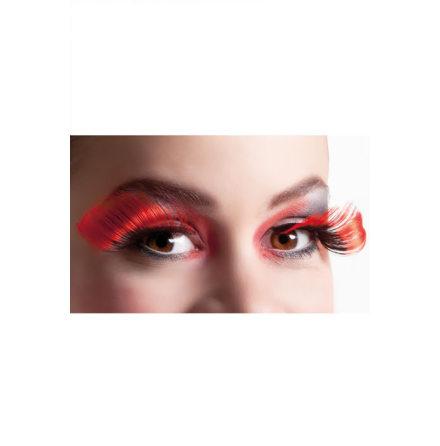Ögonfransar, extrem svart/röd