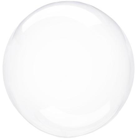Klotballong, transparent klar 40 cm
