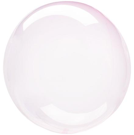 Klotballong, transparent ljusrosa 40 cm
