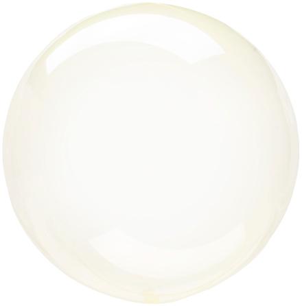 Klotballong, transparent gul 40 cm