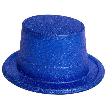 Glitterhatt, blå