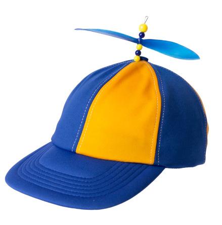 Propellerkeps, blå/gul