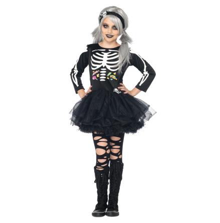 Barndräkt, skelettklänning 134/140 cl