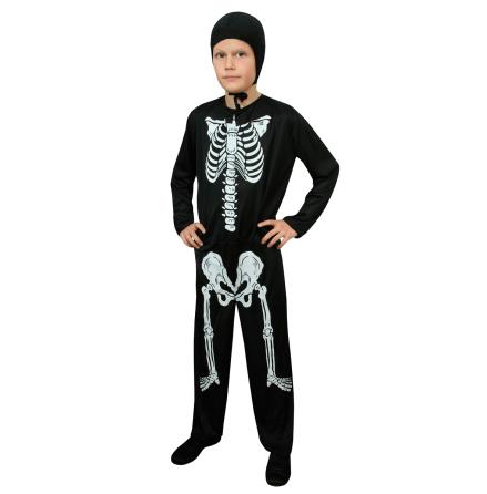 Barndräkt, skelett 122/128 cl