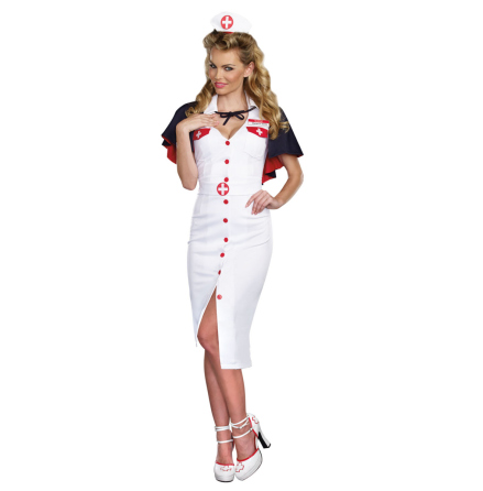 Dräkt, sjuksköterska lång M