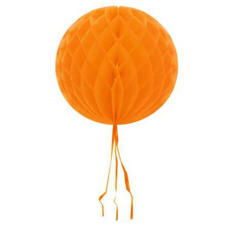 Dekorationsboll, orange 30cm