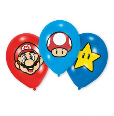 Ballonger, Super Mario 27,5 cm 6 st