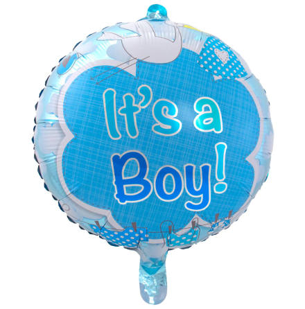 Folieballong, it's a boy 43 cm