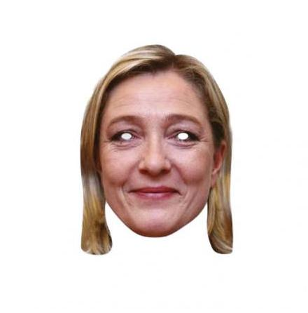 Pappmask, Marine Lepen