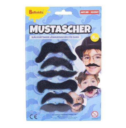 Mustascher för barn 6 st