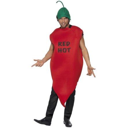 Dräkt, röd chili