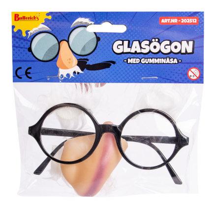 Glasögon m gumminäsa