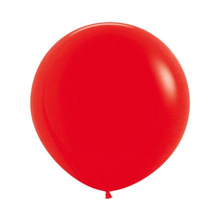 Ballong, jumbo röd 90 cm 1 st