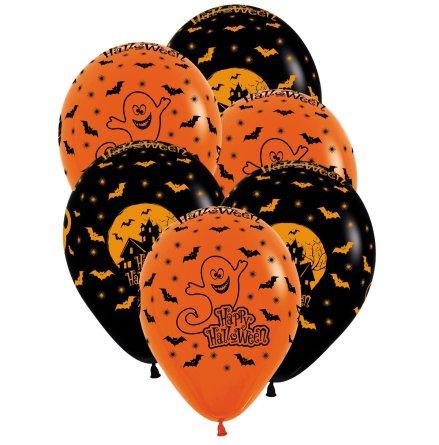 Ballonger, halloween 6 st