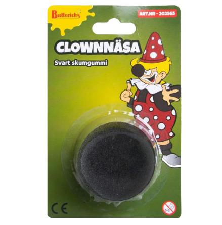 Clownnäsa, skumgummi svart