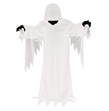 Barndräkt, vit kåpa/spöke 122/128 cl