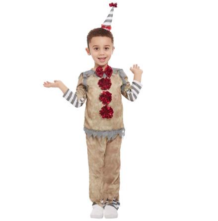 Barndräkt, vintage clown 3-4 år