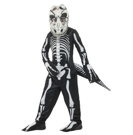 Barndräkt, T-rex skelett 134/140 cl