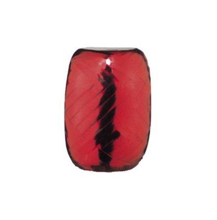 Ballongsnöre, metallic röd 20 m x 5 mm