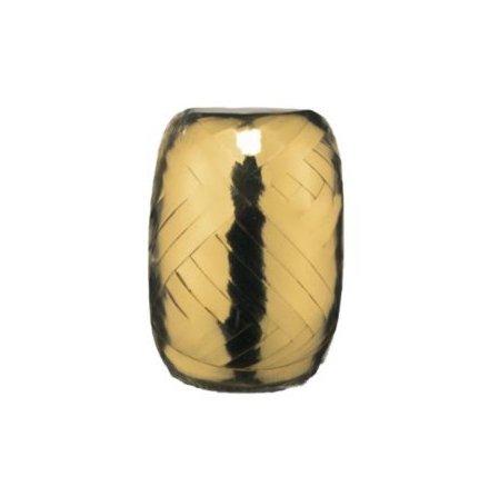 Ballongsnöre, metallic guld 20 m x 5 mm