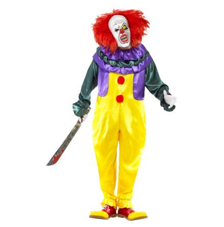 Dräkt, läskig clown L