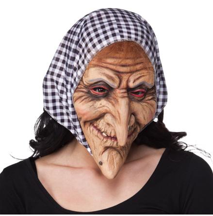 Mask, häxa med sjal