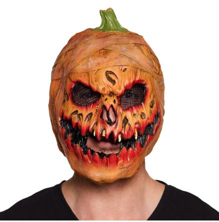 Mask, läskig pumpa