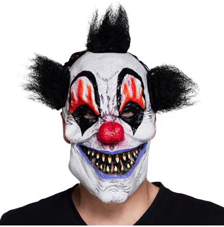 Mask, clown svart hår