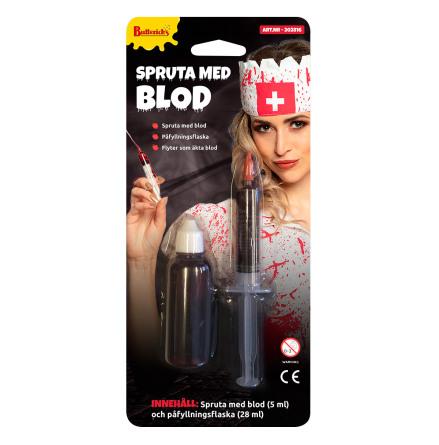 Spruta med blod