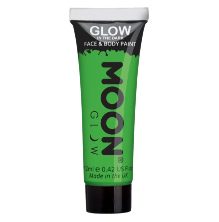 Glow in the dark i tub, grön 12 ml