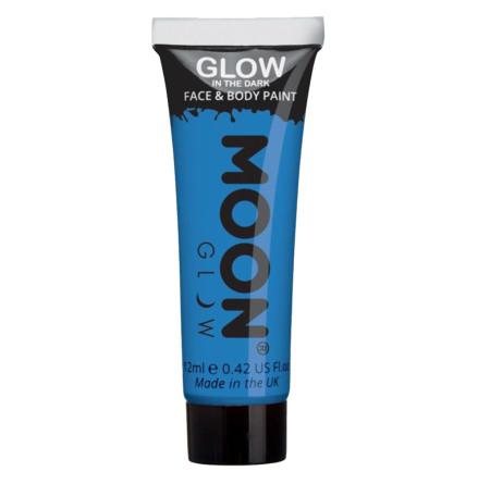 Glow in the dark i tub, blå 12 ml