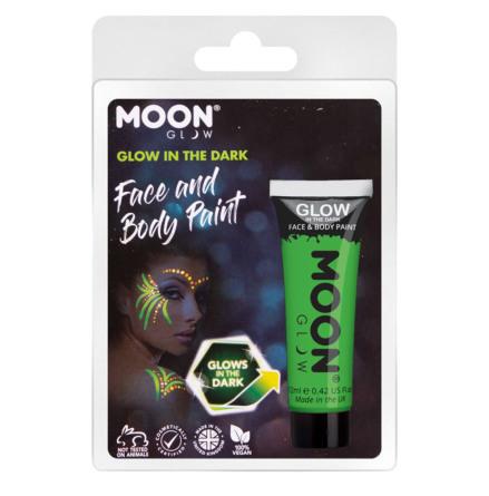 Glow in the dark i tub, grön blister 12 ml