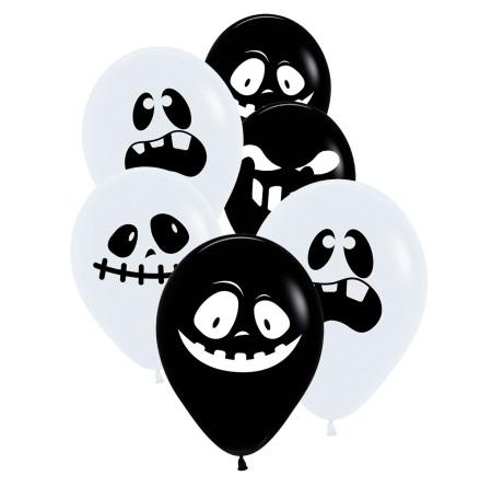Ballonger, spöke 30 cm 6 st